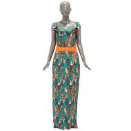 非洲民族特色蜡染印花纯棉连衣裙