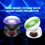 新款定时遥控音乐海洋投影灯