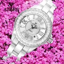 新款陶瓷镶钻不锈钢女士手表