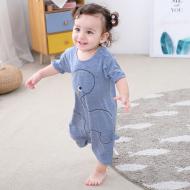 兒童夏季刺繡恐龍連體短袖